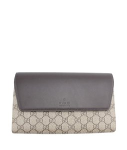 Gucci Coated Canvas Brown Clutch