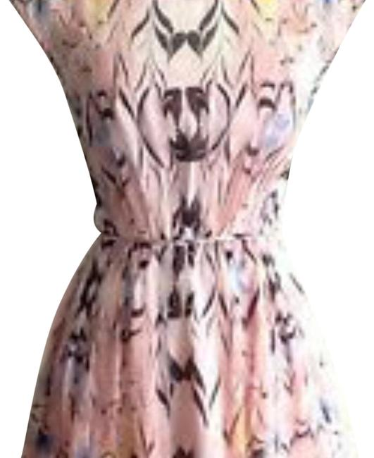 Item - Pink Marble Cap Sleeve Short Cocktail Dress Size 4 (S)
