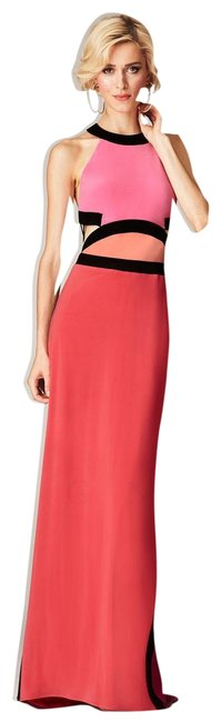 Item - Peony Sleeveless Colorblock Cutout Gown Long Formal Dress Size 10 (M)