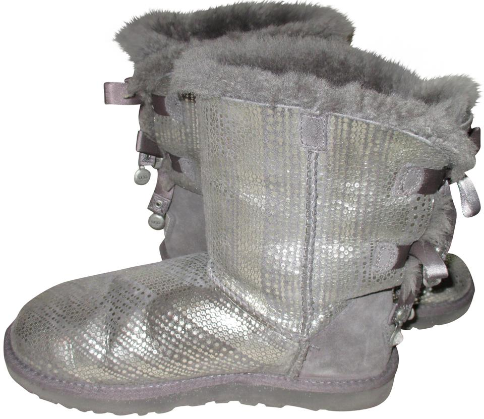 cec2af88ccd UGG Australia Grey Bailey Bow Bling Boots/Booties Size US 8 Regular (M, B)
