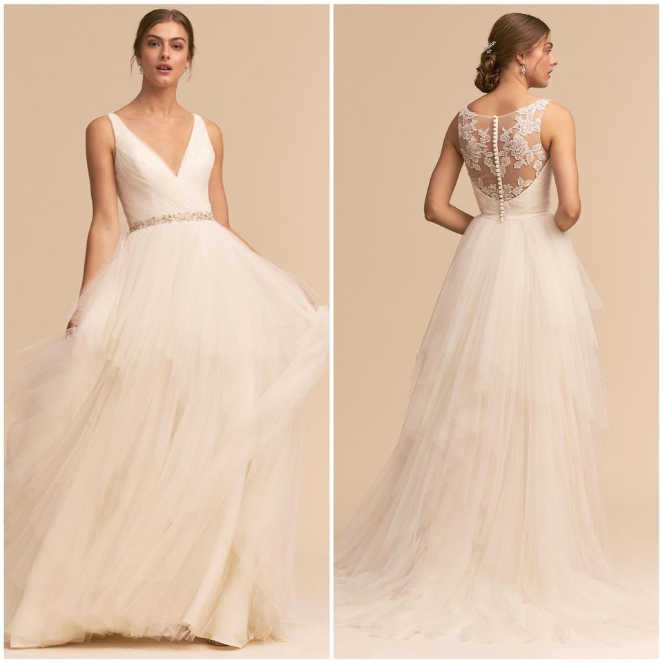 c59c085fbd9d BHLDN Ivory Tulle Majestic Ballgown Modern Wedding Dress Size 2 (XS ...