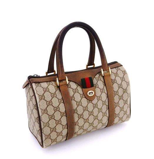 81aa1526a89f Gucci Carry All Boston Vintage Brown Supreme Web Gg Monogram Canvas ...