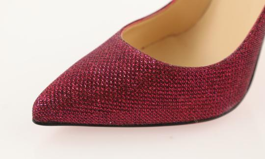 Christian Louboutin Woven Glitter Leather Stiletto Red Pumps Image 7