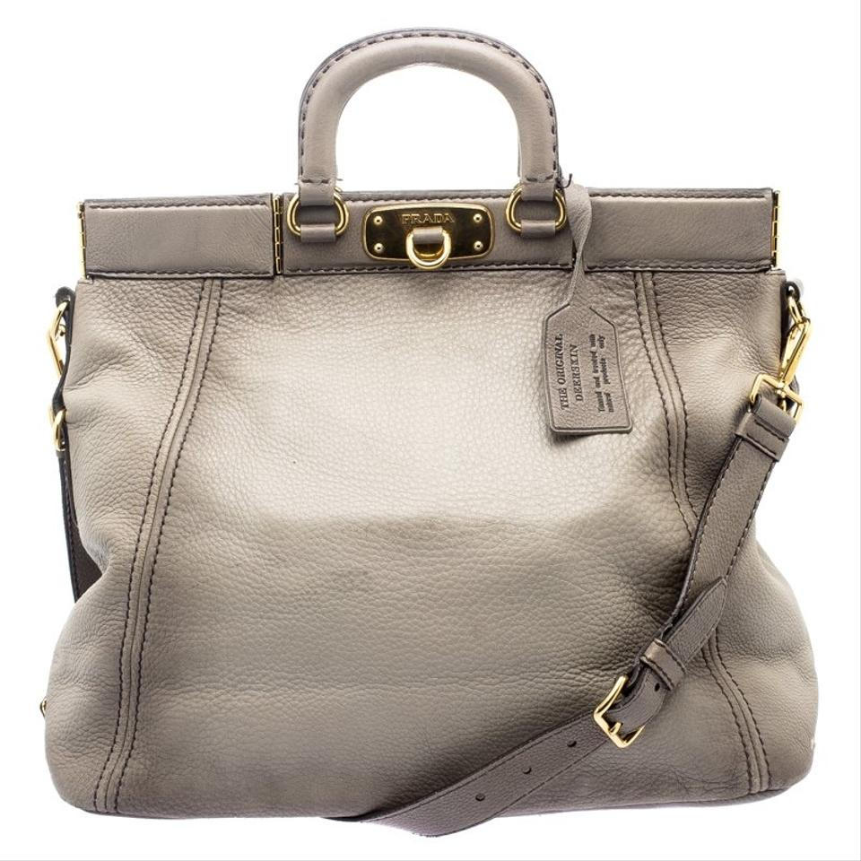 6b4a91294ac1 coupon for prada cervo frame grey leather tote b26d4 0c36c
