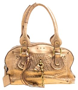 Chloé Leather Satchel in Gold