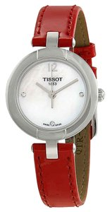Tissot T-Trend Mother of Pearl Dial Diamond Ladies Leather Watch