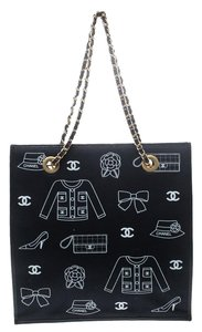 Chanel Canvas Vintage Tote in Navy Blue