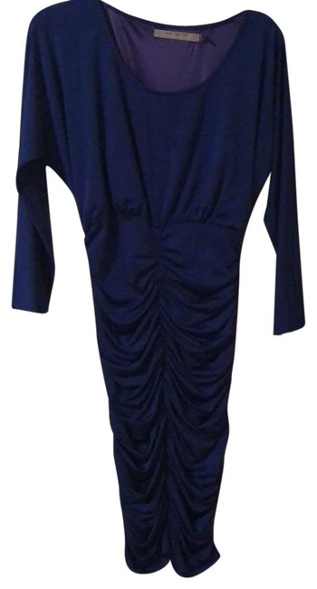 Item - Blue Andrew Royal Stretch 3/4 Sleeve Knee Length Mid-length Short Casual Dress Size 2 (XS)