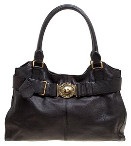 Burberry Leather Lambeth Tote in Black
