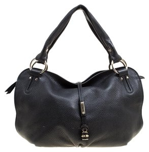 Céline Leather Nylon Hobo Bag