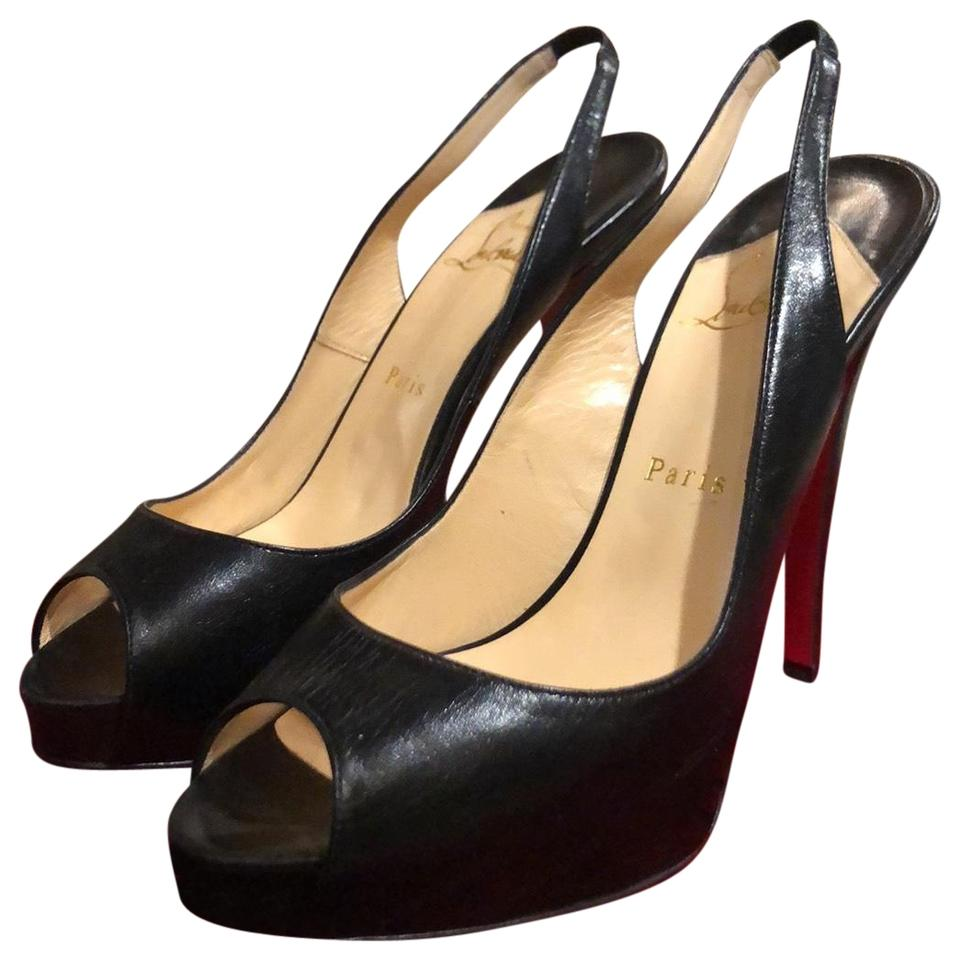 the best attitude a536b 1f5ac Christian Louboutin Black and Red Soles N. Prive 120 Kid/Cuoio Heel/Toe  Pumps Size EU 39 (Approx. US 9) Regular (M, B) 55% off retail