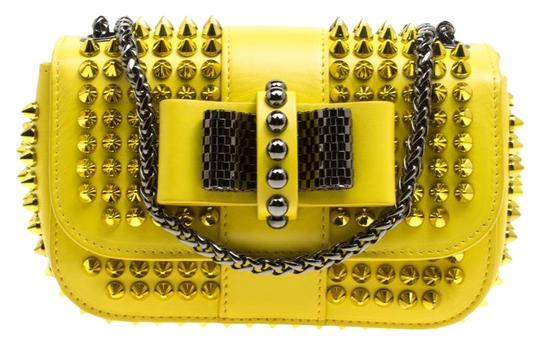 Preload https://img-static.tradesy.com/item/24811480/christian-louboutin-spiked-sweet-charity-yellow-leather-and-fabric-cross-body-bag-0-1-540-540.jpg
