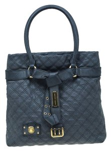 Marc Jacobs Leather Quilted Tote in Grey