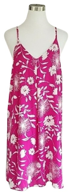 Item - Pink and White Women's Medium Mid-length Night Out Dress Size 8 (M)