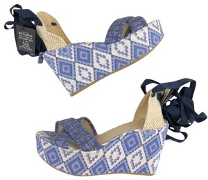 Theodora & Callum Blue Wedges