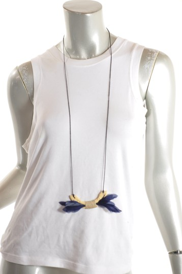Dolce of Telluride CO DOLCE of Telluride Carved Bone Feather Pendent Necklace + Hoop Earring Image 3