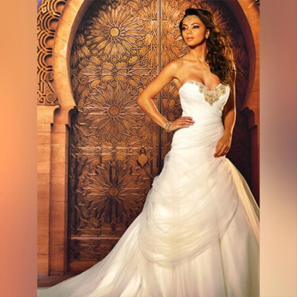 feb1e37595d1 Alfred Angelo White/Silver Glitter Tulle Princess Jasmine's Disney - Style  261a Formal Wedding Dress