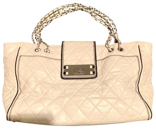 Item - 2.55 Reissue XL Tote Bag Extra Large Shoulder Off White Leather Satchel