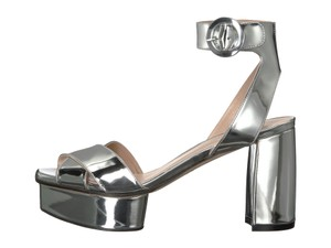 Stuart Weitzman Metallic Platforms Formal Silver Sandals
