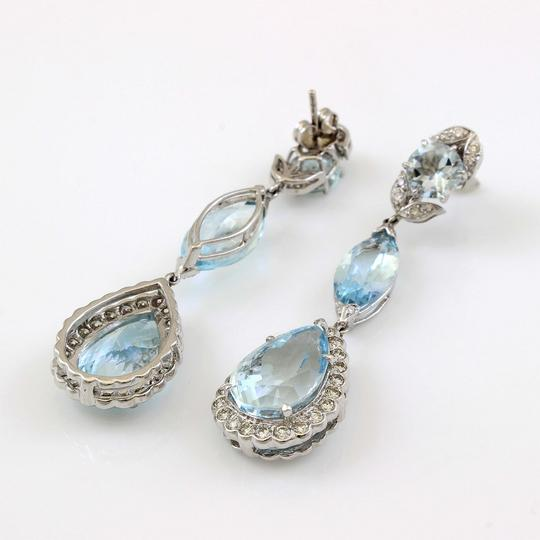 Other 18K White Gold Aquamarine Teardrop Earrings #18481 Image 2