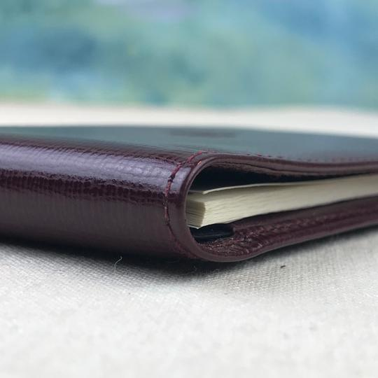 Cartier Cartier Maroon Red Grained Leather Compact Bifold Notepad ID Wallet Image 7