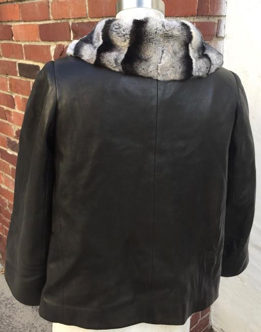 Sam Rone black fur leather Leather Jacket Image 5