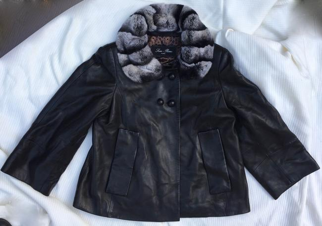Sam Rone black fur leather Leather Jacket Image 6