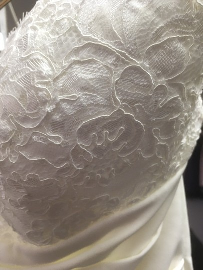 Alfred Angelo Ivory With Alenon Lace Bodice - Style 601 Destination Wedding Dress Size 4 (S) Image 4