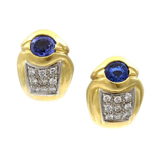 Preload https://img-static.tradesy.com/item/24812026/18k-yellow-gold-diamonds-and-sapphire-huggy-earrings-0-0-540-540.jpg