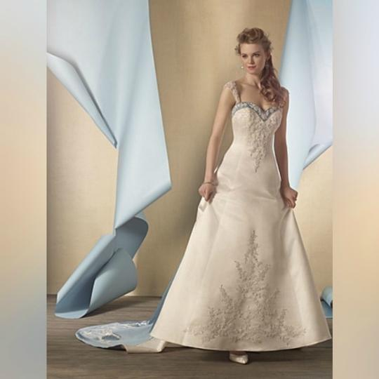 Alfred Angelo Ivory/Once Upon A Time Dream In Color Designer Bridal Gown - Style 2447 Formal Wedding Dress Size 6 (S) Image 1