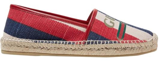 Preload https://img-static.tradesy.com/item/24812086/gucci-multicolored-canvas-pilar-leather-trimmed-striped-logo-print-espadrilles-flats-size-eu-415-app-0-1-540-540.jpg