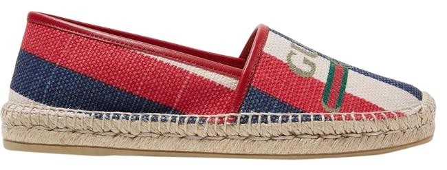 Gucci Multicolored Canvas Pilar Leather-trimmed Striped Logo-print Espadrilles Flats Size EU 41.5 (Approx. US 11.5) Regular (M, B) Gucci Multicolored Canvas Pilar Leather-trimmed Striped Logo-print Espadrilles Flats Size EU 41.5 (Approx. US 11.5) Regular (M, B) Image 1