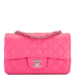 edab08638c5656 Chanel Cross Body Bag · Chanel. Classic Flap Quilted Lambskin Rectangular  Pink ...