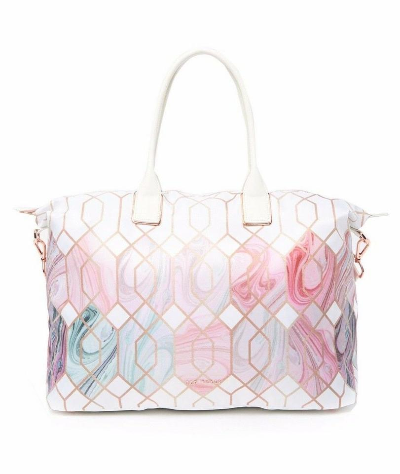 f53e26bdb519 Ted Baker Travel Beach Shoulder Sea Of Clouds Tote in White Image 0 ...