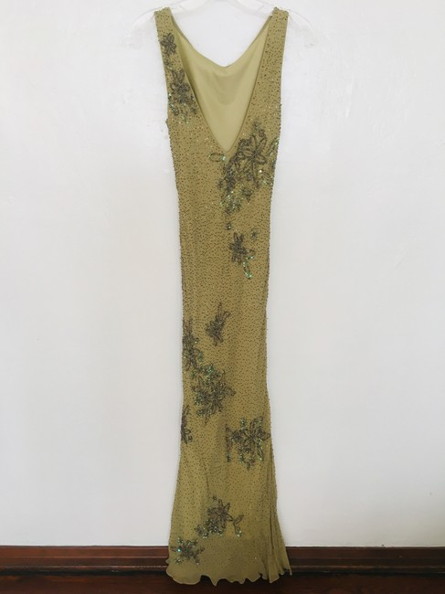 Other Couture Silk Sequin Embroidered Sheer Dress Image 1