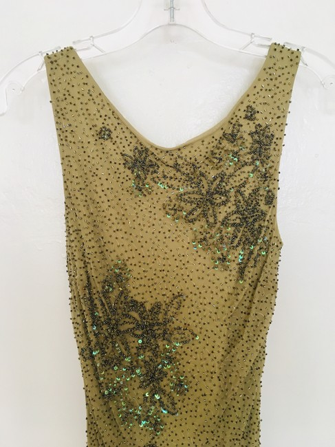 Other Couture Silk Sequin Embroidered Sheer Dress Image 2