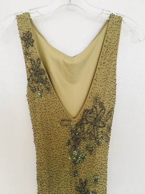 Other Couture Silk Sequin Embroidered Sheer Dress Image 3