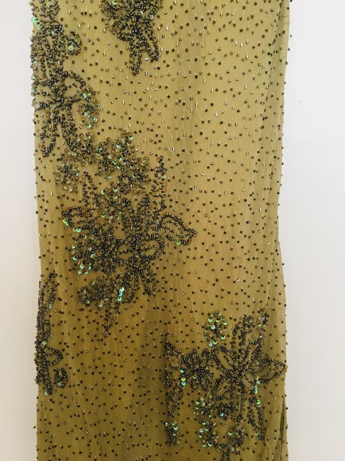 Other Couture Silk Sequin Embroidered Sheer Dress Image 4