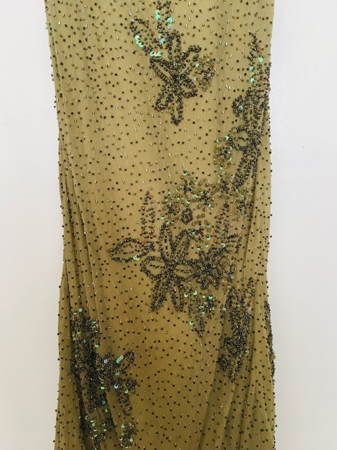 Other Couture Silk Sequin Embroidered Sheer Dress Image 5