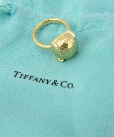 Tiffany & Co. Picasso Large Sugar Stack Hammered 18k Gold Ring Image 1