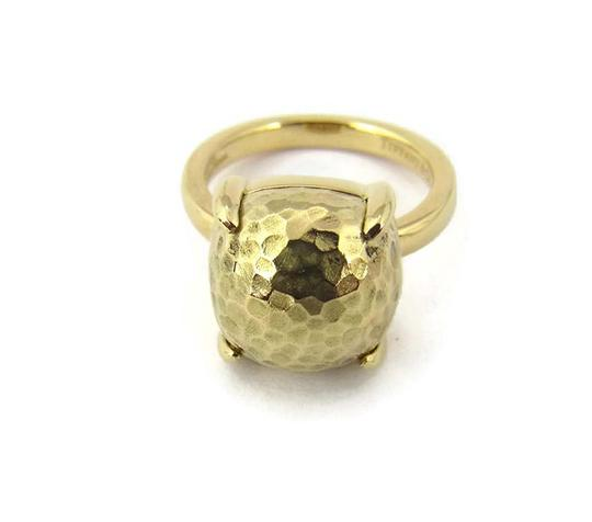 Tiffany & Co. Picasso Large Sugar Stack Hammered 18k Gold Ring Image 2
