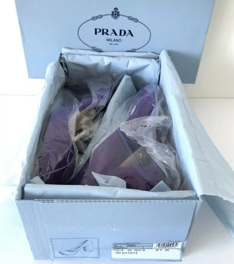 Prada Purple 65mm Block Heel Viola Pumps Image 1