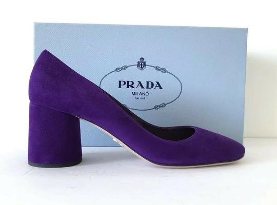 Prada Purple 65mm Block Heel Viola Pumps Image 2