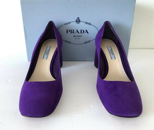 Prada Purple 65mm Block Heel Viola Pumps Image 3