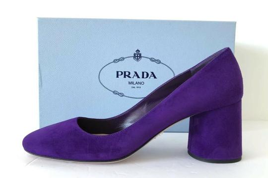 Prada Purple 65mm Block Heel Viola Pumps Image 5