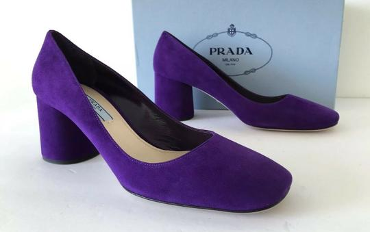 Prada Purple 65mm Block Heel Viola Pumps Image 9