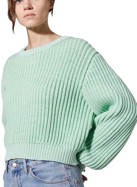 Preload https://img-static.tradesy.com/item/24812189/topshop-chunky-knit-12-mint-green-sweater-0-1-650-650.jpg