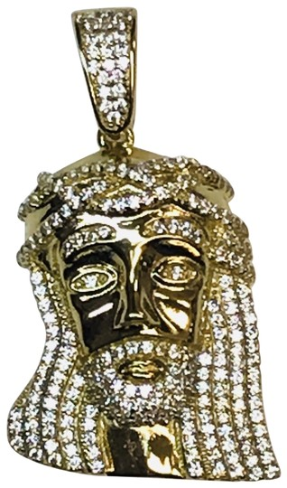 Preload https://img-static.tradesy.com/item/24812191/gold-plated-925-sterling-silver-jesus-piece-with-cz-charm-0-1-540-540.jpg