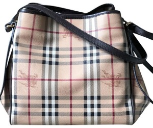 Burberry Haymarket Check Tote in brown