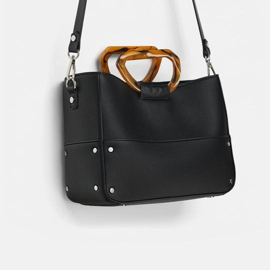 Zara Tote in black Image 3
